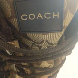Coach Shoes - Coach logo brown snow winter boots